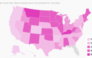 Chart 2: Racial Disparities in U.S. Cannabis Arrests Source: Intro-Blue, Quartz
