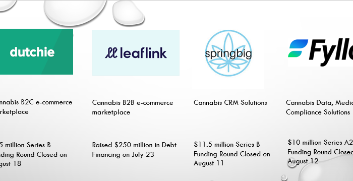Chart 1: Leading Cannabis Tech Names That Raised Funds in The Last Month