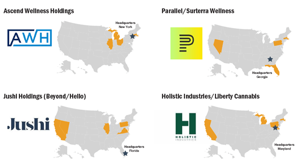 Chart 14: Multistate Operators to Watch Source: Intro-Blue, Marijuana Business Daily
