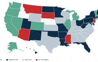 Chart 3: Cannabis Legalization Across the U.S. Source: Intro-Blue, Yahoo!, New Frontier Data